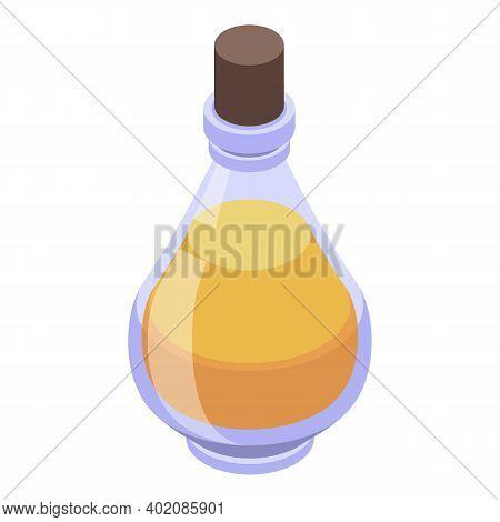 Transparent Bottle Canola Icon. Isometric Of Transparent Bottle Canola Vector Icon For Web Design Is