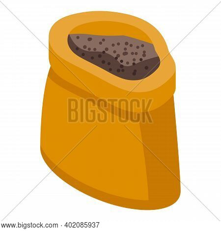 Sack Grain Canola Icon. Isometric Of Sack Grain Canola Vector Icon For Web Design Isolated On White