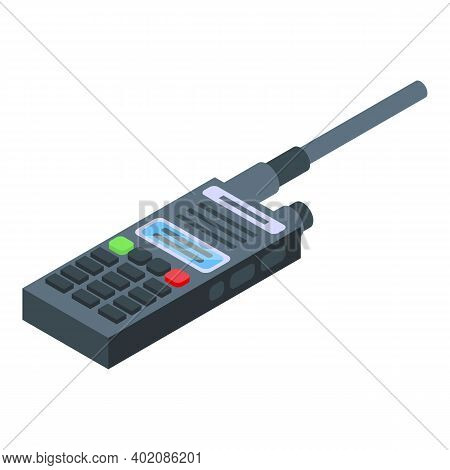 Walkie Talkie Control Icon. Isometric Of Walkie Talkie Control Vector Icon For Web Design Isolated O
