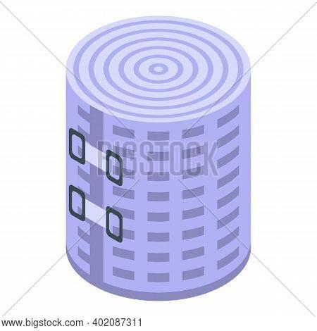 Medical Elastic Bandage Icon. Isometric Of Medical Elastic Bandage Vector Icon For Web Design Isolat