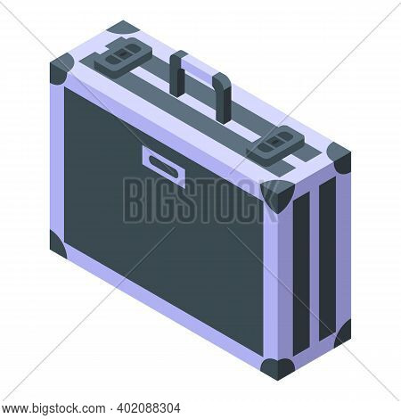 Baggage Briefcase Icon. Isometric Of Baggage Briefcase Vector Icon For Web Design Isolated On White