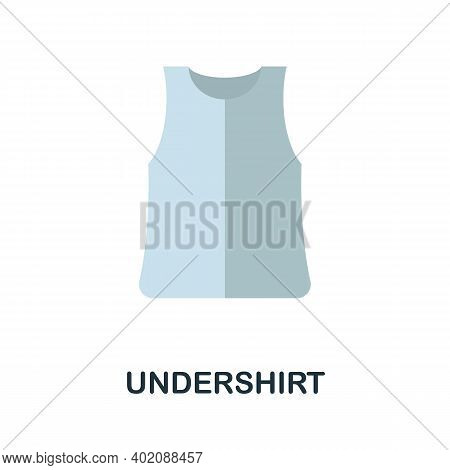 Undershirt Flat Icon. Color Simple Element From Clothes Collection. Creative Undershirt Icon For Web