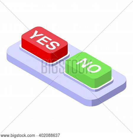 Yes Or No Opportunity Icon. Isometric Of Yes Or No Opportunity Vector Icon For Web Design Isolated O