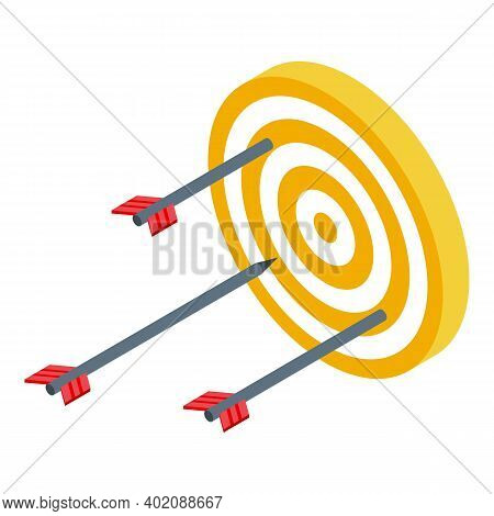 Target Arrow Opportunity Icon. Isometric Of Target Arrow Opportunity Vector Icon For Web Design Isol