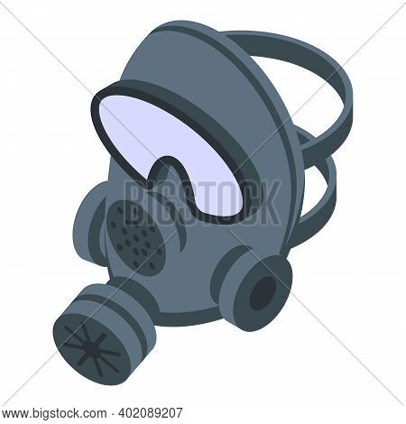 Respirator Gas Mask Icon. Isometric Of Respirator Gas Mask Vector Icon For Web Design Isolated On Wh