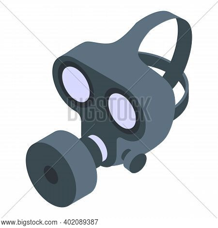 Extreme Gas Mask Icon. Isometric Of Extreme Gas Mask Vector Icon For Web Design Isolated On White Ba