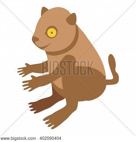 Kid Lemur Icon. Isometric Of Kid Lemur Vector Icon For Web Design Isolated On White Background