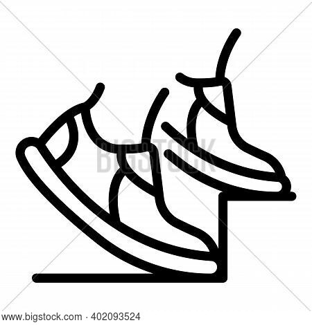 Effort Sport Shoes Icon. Outline Effort Sport Shoes Vector Icon For Web Design Isolated On White Bac