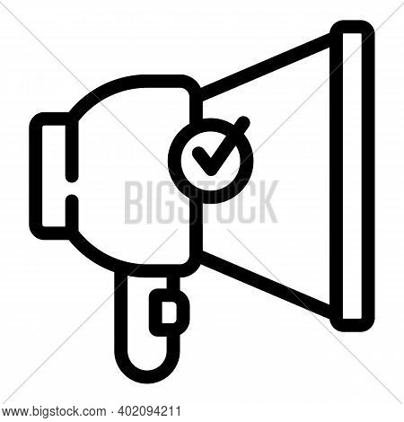 Add Megaphone Icon. Outline Add Megaphone Vector Icon For Web Design Isolated On White Background
