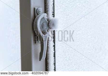 The Topic Of Freezing Of Home Plastic Windows Inside The House Due To Old Age. The Concept Of Window