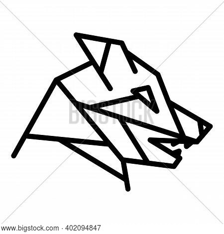 Fauna Wolf Icon. Outline Fauna Wolf Vector Icon For Web Design Isolated On White Background
