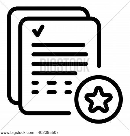 Expertise In Documents Icon. Outline Expertise In Documents Vector Icon For Web Design Isolated On W