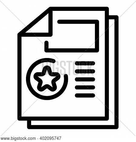 Expertise Information Icon. Outline Expertise Information Vector Icon For Web Design Isolated On Whi
