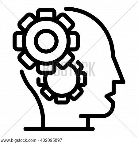 Expertise Mind Icon. Outline Expertise Mind Vector Icon For Web Design Isolated On White Background
