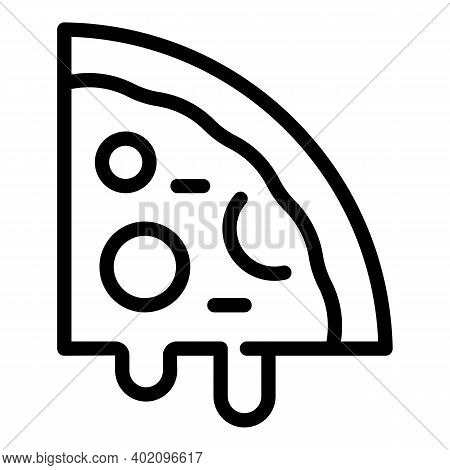 Slice Of Pizza Icon. Outline Slice Of Pizza Vector Icon For Web Design Isolated On White Background