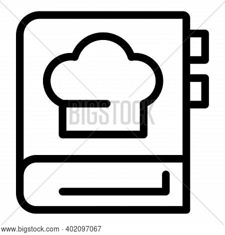 Cook Book Icon. Outline Cook Book Vector Icon For Web Design Isolated On White Background