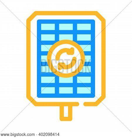 Renewable Energy Color Icon Vector Illustration Color