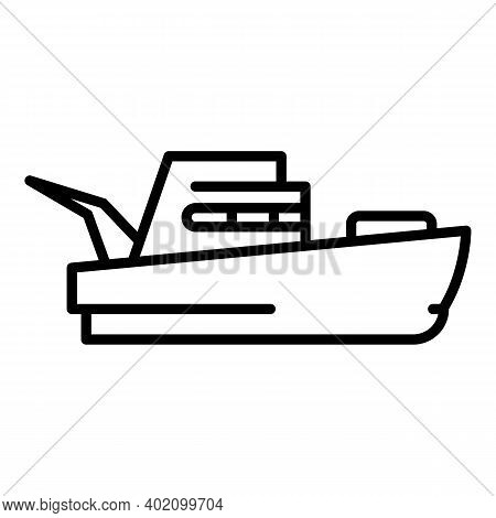 International Vessel Icon. Outline International Vessel Vector Icon For Web Design Isolated On White