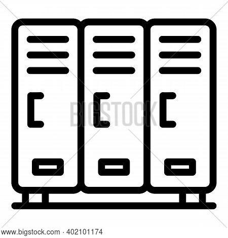 Sport Locker Icon. Outline Sport Locker Vector Icon For Web Design Isolated On White Background