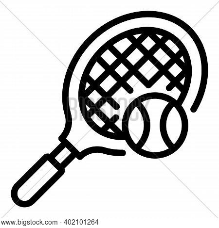 Squash Racketicon. Outline Squash Racketvector Icon For Web Design Isolated On White Background