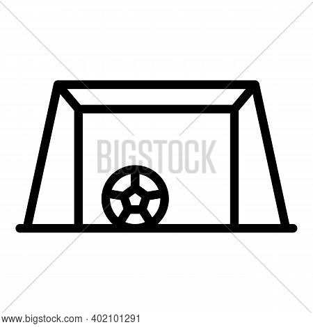 Soccer Goal Net Icon. Outline Soccer Goal Net Vector Icon For Web Design Isolated On White Backgroun