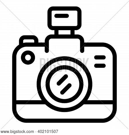 Camera Actualization Icon. Outline Camera Actualization Vector Icon For Web Design Isolated On White