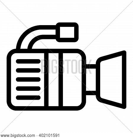 Actual Video Camera Icon. Outline Actual Video Camera Vector Icon For Web Design Isolated On White B