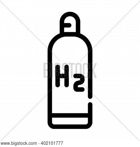 Hydrogen Reservoir Line Icon Vector Illustration Black