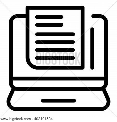 Laptop Actualization Icon. Outline Laptop Actualization Vector Icon For Web Design Isolated On White