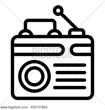Radio Actualization Icon. Outline Radio Actualization Vector Icon For Web Design Isolated On White B