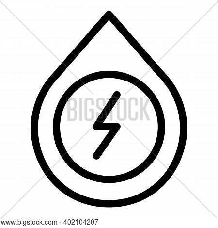 Power Generation Icon. Outline Power Generation Vector Icon For Web Design Isolated On White Backgro