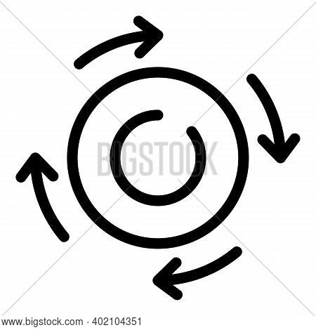 Renewable Natural Energy Icon. Outline Renewable Natural Energy Vector Icon For Web Design Isolated