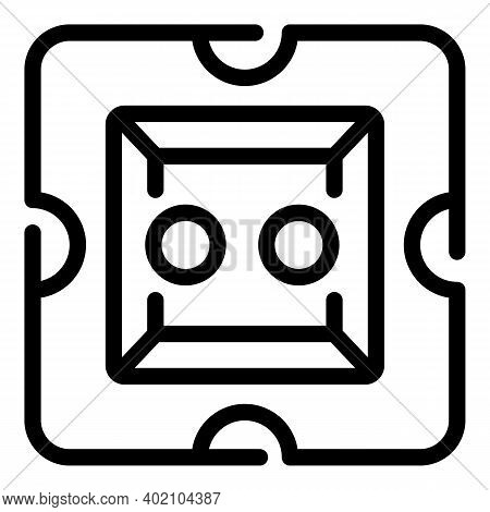Eco Socket Icon. Outline Eco Socket Vector Icon For Web Design Isolated On White Background