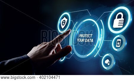 Cyber Security Data Protection Business Technology Privacy Concept. Protect Your Data