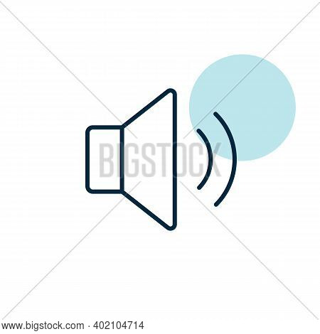 Medium Volume Sound Music Vector Flat Icon. Graph Symbol For Music And Sound Web Site And Apps Desig