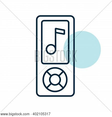 Mp3 Player Vector Icon. Music Sign. Graph Symbol For Music And Sound Web Site And Apps Design, Logo,