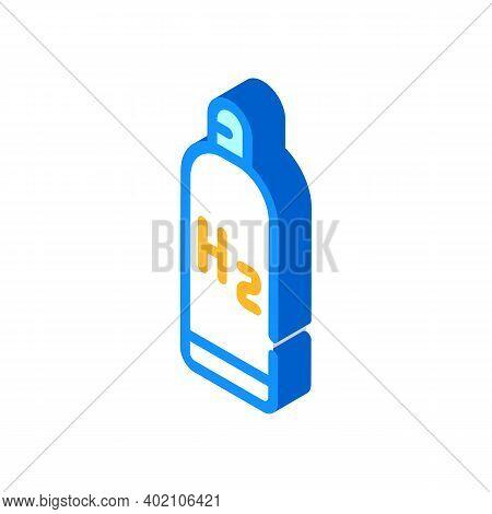 Hydrogen Reservoir Isometric Icon Vector Illustration Color