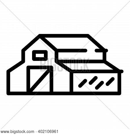 Barn Icon. Outline Barn Vector Icon For Web Design Isolated On White Background