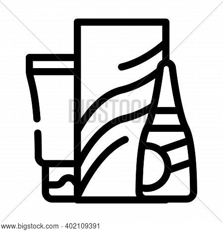 Soap And Hand Cleanser Line Icon Vector Illustration