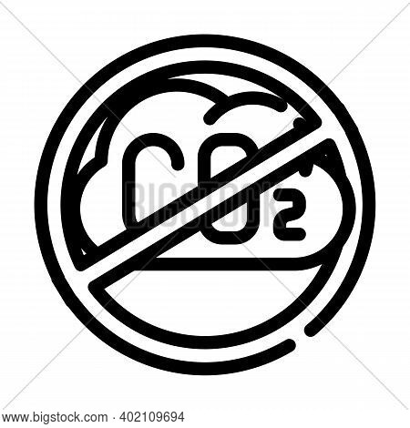 Without Carbon Dioxide Emissions Line Icon Vector Illustration