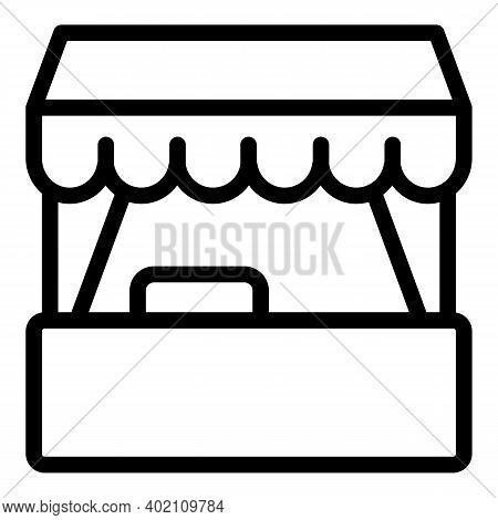 City Stall Icon. Outline City Stall Vector Icon For Web Design Isolated On White Background
