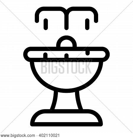 City Fountain Icon. Outline City Fountain Vector Icon For Web Design Isolated On White Background