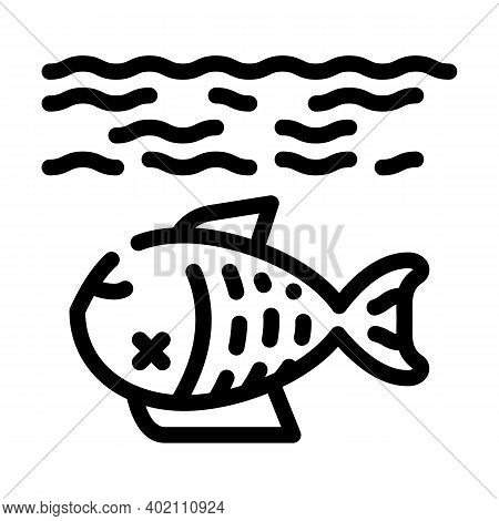 Environment Harm Line Icon Vector Illustration Black