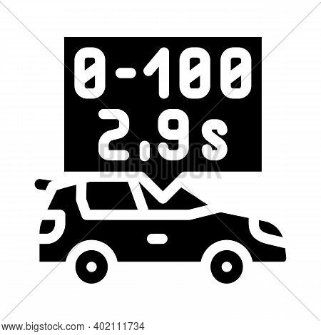 Characteristics Of Electric Car Glyph Icon Vector Illustration