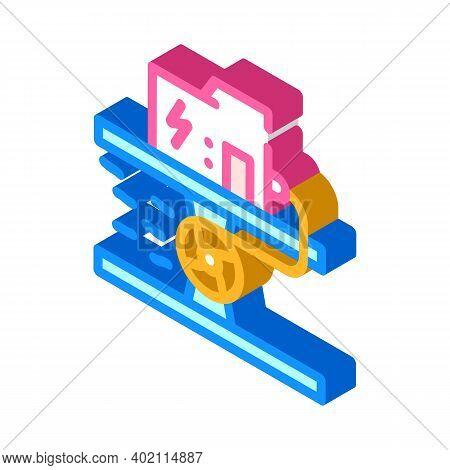 Hydro Generator Isometric Icon Vector Illustration Color