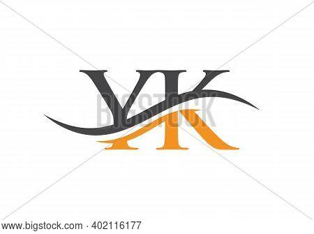 Initial Monogram Letter Yk Logo Design Vector. Yk Letter Logo Design With Modern Trendy