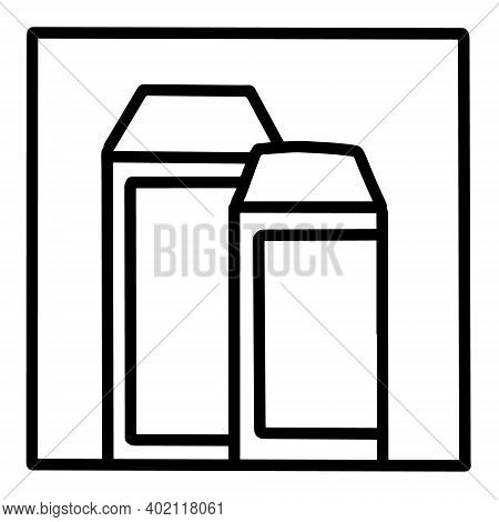 Plant Milk Hand Drawn Vector Icon Doodle Logo In Cartoon Style Black White Contrast