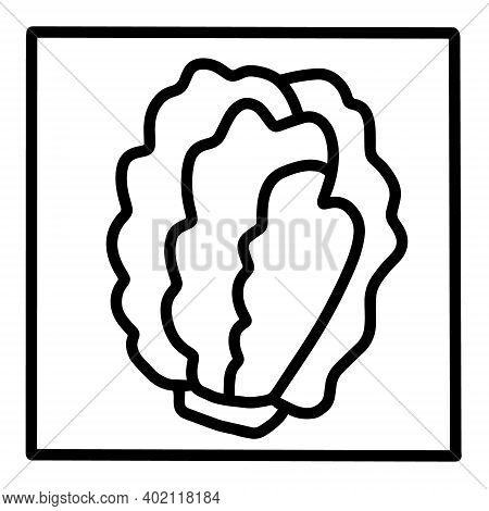 Green Salad Hand Drawn Vector Icon Doodle Logo In Cartoon Style Black White Contrast