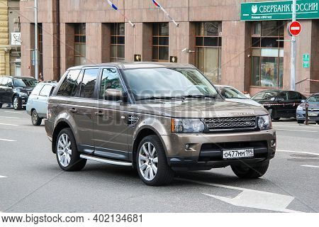 Moscow, Russia - June 2, 2013: Luxury Suv Range Rover Sport In The City Street.