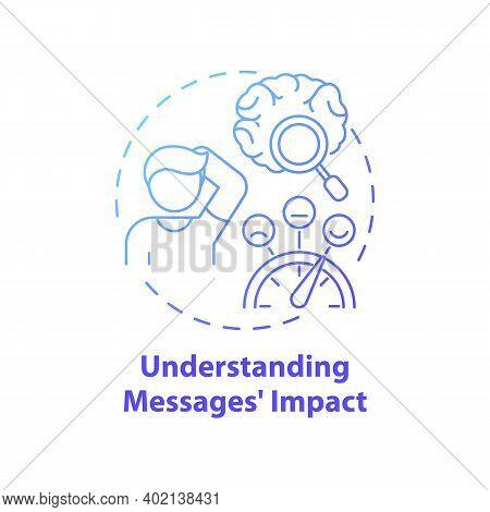 Understanding Messages Impact Concept Icon. Media Literacy Elements Idea Thin Line Illustration. Und